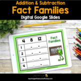 Digital Math Activities - Addition and Subtraction Fact Fa