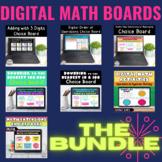 Digital Math Activities Bundle | Virtual Math Choice Boards