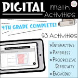 Digital Math Activities: Complete Fourth Grade BUNDLE / Di