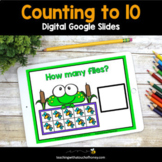 Digital Math Activities - Counting to 10 Google Slides