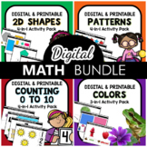 Digital Math Activities Endless Bundle for Preschool and K