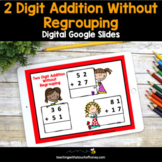 Digital Math Activities - Two Digit Addition Without Regro