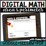 Digital Math//Area & Perimeter Cheezit//Google Slides//See