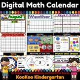Digital Math Calendar for Google Slides