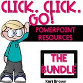 Digital Math Center Interactive PowerPoints - Click Click Go Bundle