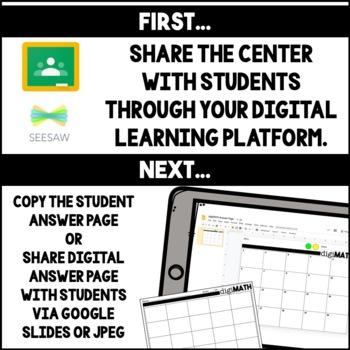 Digital Math Centers: 3rd Grade Bundle