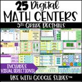 Digital Math Centers - 5th Grade Decimals & Place Value For Google Slides™