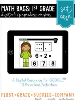 Digital Math Centers | First Grade Math Centers | Paperless Math Centers