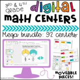 Digital Math Centers & Activities for Google Slides™ 3rd & 4th Grade BUNDLE
