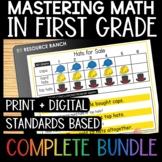 Digital Math Centers for First Grade in Google Slides™ Bundle