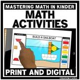 Digital Math Centers for Kindergarten in Google Slides™