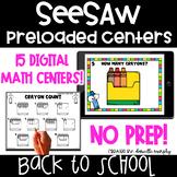 Digital Math Centers l SeeSaw Kindergarten Activities