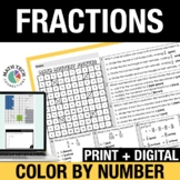 Digital Math Color by Code   Lines Plots with Fractions, Comparing Fractions