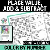 Digital Math Coloring | 3rd Grade Place Value Digital Math Task Cards Google