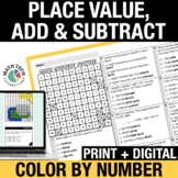 Digital Math Coloring Activities | Place Value, Number Forms, Comparing Numbers