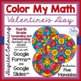 Digital Math Coloring Activities Valentine Google Forms™ a