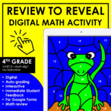 Digital Math Activities 4th Grade Centers Color By Number 4.NBT.5 Multiplication