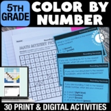Digital Math Coloring Activities 5th Grade Color By Number