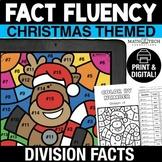 Digital Math Coloring Activity Christmas Division Facts Di
