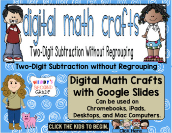 Digital Math Craft Subtracting Two Digit Numbers without Regrouping Sample