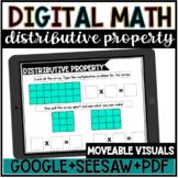 Digital Math//Distributive Property//Google Slides//Seesaw