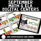 Digital Math & ELA Centers {September}