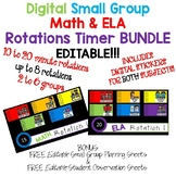 Digital Math & ELA Small Group Rotation Boards w/Timers Ed