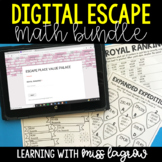 Digital Math Escape Activities: Bundle