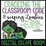 Digital Math Escape Room Cracking the Classroom Code® 3rd Grade Halloween