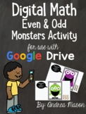 Digital Math - Even and Odd Monsters Activity - Distance L