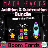 Digital Math Fact Fluency Subtraction & Addition Boom Cards Distance Learning