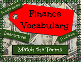 Digital Math Financial Vocabulary Sort Activity Google Slide Math Center
