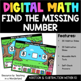 Digital Math: Find the Missing Number (Add & Subtract within 10)