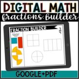 Digital Math//Fraction Builder//Google Slides//DISTANCE LEARNING