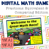 Digital Math Game Equivalent Fractions & Comparing Fractions