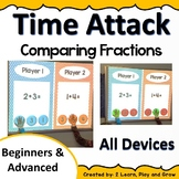 Digital Math Game Time Attack Comparing Fractions