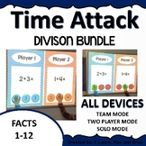 Digital Math Game Time Attack Division Facts 1-12