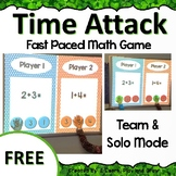 Digital Math Game Time Attack FREEBIE Addition Play On Any Device!