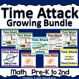Digital Math Game Time Attack Growing Bundle Pre-K Kindergarten 1st 2nd Grade