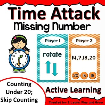 Digital Math Game Time Attack Missing Numbers