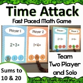 Digital Math Game Time Attack Sums to 10 & 20