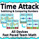 Digital Math Game Time Attack Subitizing & Comparing Numbers