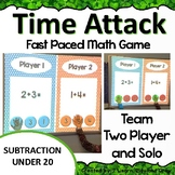 Digital Math Game Time Attack Intro to Subtraction