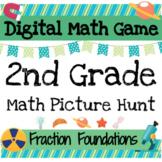Digital Math Games: 2nd Grade Math Fractions Review *Pictu