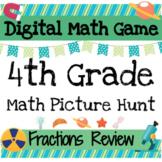 Digital Math Games: 4th Grade Math Fractions Review *Pictu