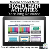 Digital Math Activities for Middle School Math Distance Learning