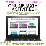 Distance Learning Digital Math Activities