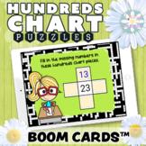 Digital Math - Hundreds Chart Puzzles - BOOM Cards