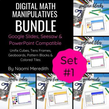Digital Math Manipulatives | Set #1 | Distance Learning