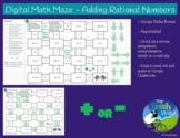 Digital Math Maze - Adding Rational Numbers - Remote / Dis